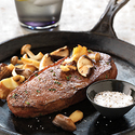 Skillet Steaks with Sautéed Wild Mushrooms